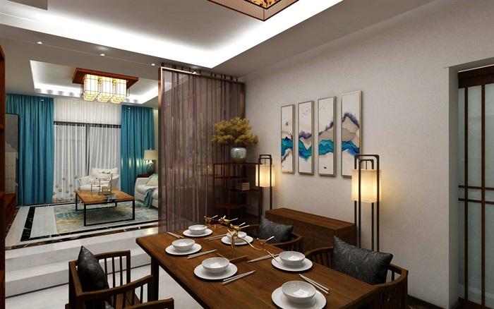 某详细的现代室内设计cad3d及效果图+360度全景图