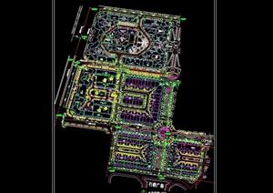 住宅花园小区总平面规划cad图