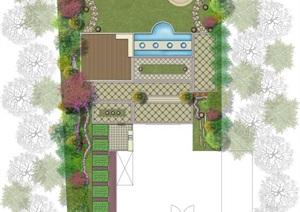 欧式别墅庭院平面图
