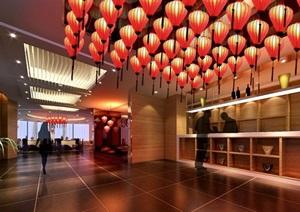 长安悦宴酒楼餐厅设计jpg效果图