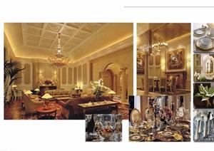 一个会所室内装饰设计jpg方案