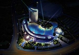 江宁花园酒店详细景观设计jpg、cad方案