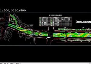 引桥道路绿化景观设计cad方案