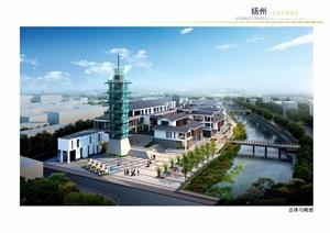 现代中式工艺坊建筑景观规划