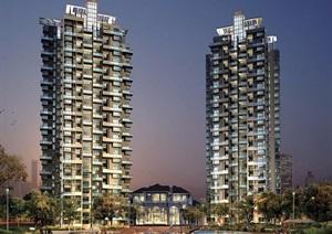 多张住宅小区建筑规划方案及效果图、实景图