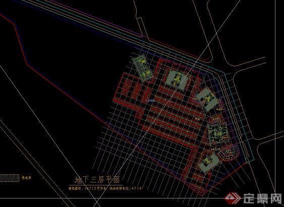 居住小區地下車庫平面圖