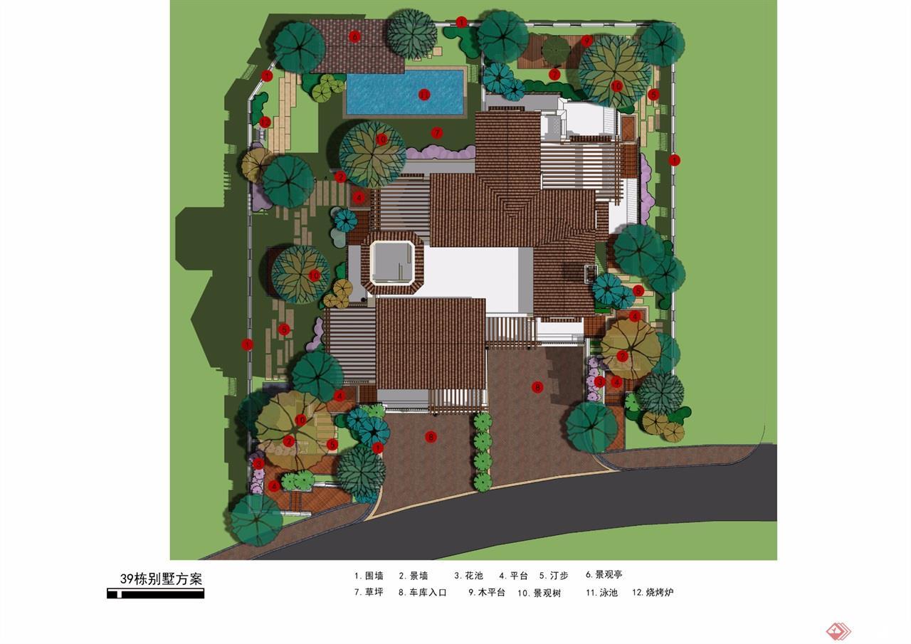 38-39栋别墅平面图