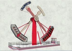 大型游樂設施SU(草圖大師)模型