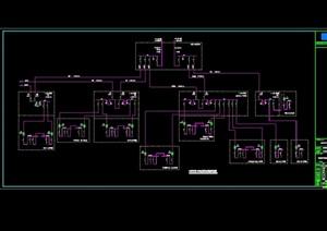 某商业建筑电路设施设计cad方案
