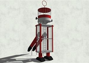 機器人游樂設施SU(草圖大師)模型
