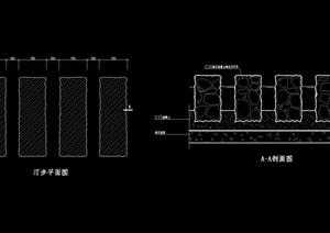 汀步素材设计cad方案