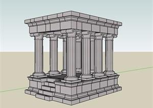欧式建筑结构素材设计SU(草图大师)模型