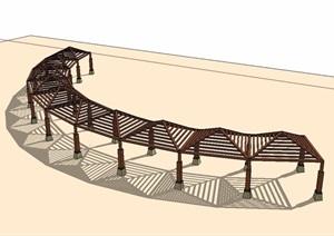 东南亚廊架素材设计SU(草图大师)模型