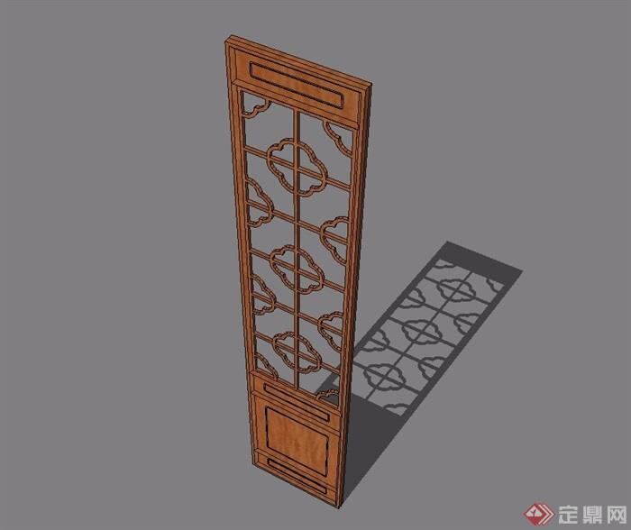 65种中式门窗设计su合集