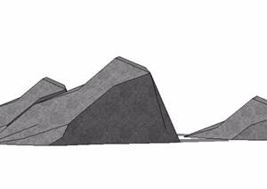 石头石材景石SU(草图大师)模型