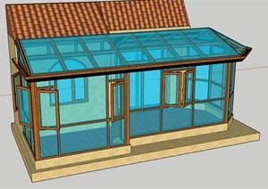 異型陽光房素材設計SU(草圖大師)模型