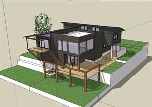 某农村自建别墅设计SU(草图大师)模型