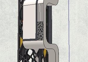 精品现代风格景观柱设计SU(草图大师)模型