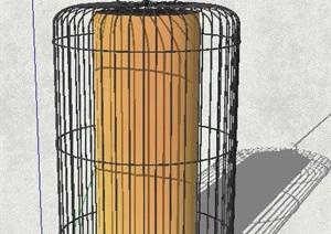 鸟笼状吊灯设计SU(草图大师)模型