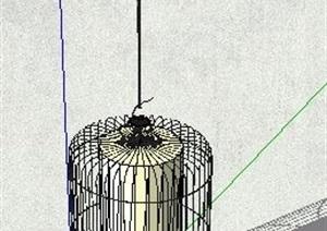 精品鸟笼吊灯设计SU(草图大师)模型