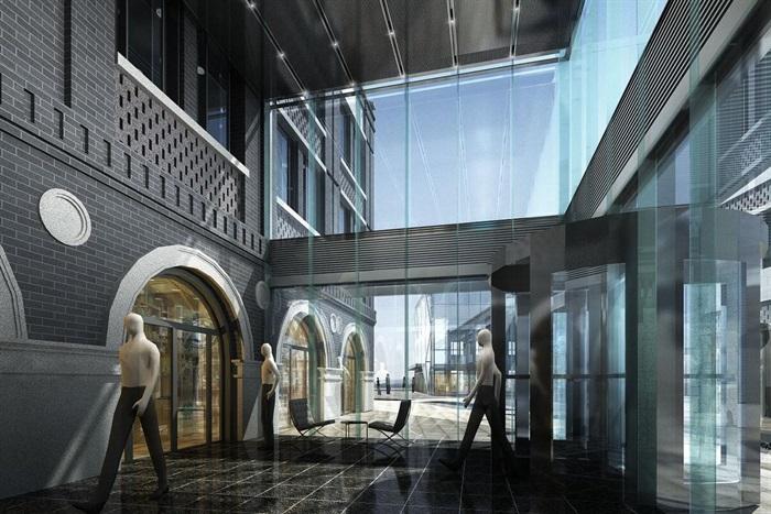 某商業民國風商業街特色商業街民國建筑su精細模型(3)