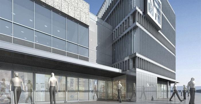 某商業民國風商業街特色商業街民國建筑su精細模型(4)