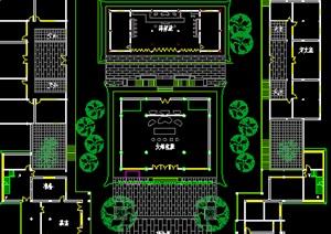 寺庙平面图CAD方案图