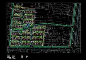 某现代住宅小区景观规划cad方案