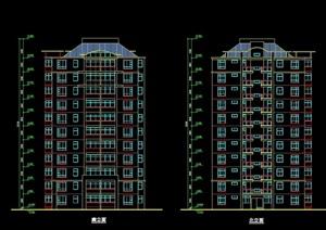 沈阳某小区住宅建筑设计cad方案图