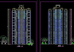 高层住宅楼建筑cad方案图