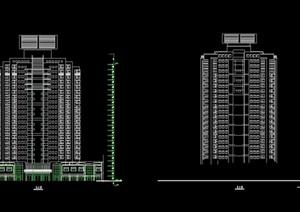 高层住宅楼设计cad方案图