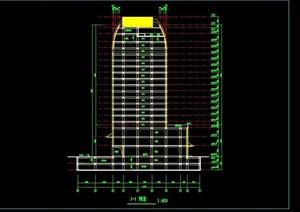 现代高级写字楼建筑设计cad方案