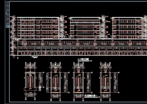 住宅建筑多层设计cad施工图