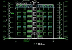 多层住宅建筑cad施图