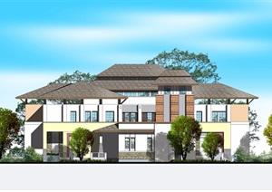 多种不同的详细别墅设计cad施工图带效果图