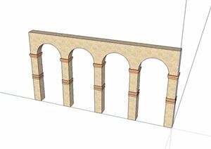 景墙门素材设计SU(草图大师)模型