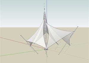 某独特张拉膜SU(草图大师)模型