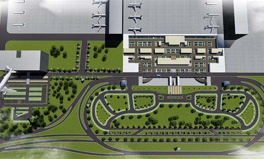 武汉某飞机场草图大师lumion动画效果图