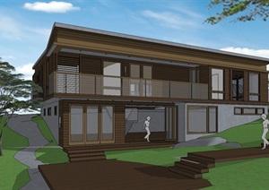 日式二层别墅SU(草图大师)模型