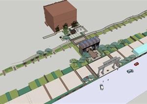 泰式混搭风格住宅景观设计SU(草图大师)模型