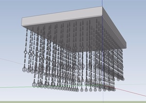 客厅水晶吊灯顶灯SU(草图大师)模型
