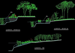 生态驳岸cad施工图