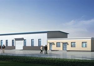 厂房详细建筑设计3d模型