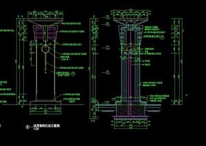 景观灯柱详细完整设计cad施工图