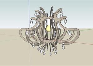 现代风格详细独栋经典吊灯素材设计SU(草图大师)模型