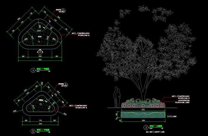 树池标准cad施工大样图