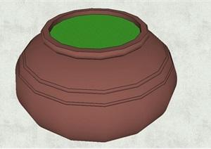 现代陶罐小品素材设计SU(草图大师)模型