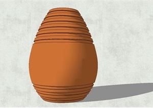 陶罐详细完整小品SU(草图大师)模型