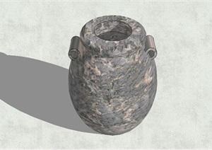 陶罐独特小品素材设计SU(草图大师)模型