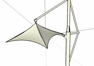 现代风格构架张拉膜小品SU(草图大师)模型